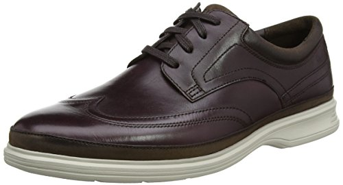 Rockport Dressports 2 Lite Wingtip, Zapatos de Cordones Oxford Hombre, Morado (Burgundy), 43 EU