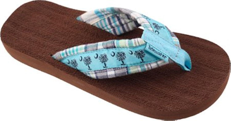 Sandaler av Tidewater Woherrar Turquoise Palmetto Palmetto Palmetto Madras  70% rabatt