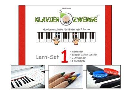 Klavierzwerge Band 1 : Set (Buch +Sticker +Armbänder +Buntstifte)
