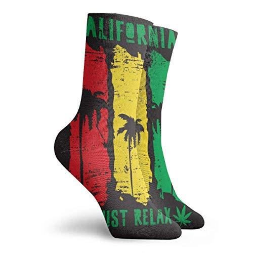 hgfyef Socks for women size 10-12,Vector Illustration On The Theme Of California