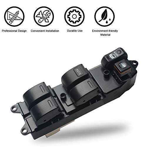 Travay Master Power Window Switch Front Left Driver Side Compatible with 2000-2008 Toyota Corolla,2004-2009 Toyota Prius, 2004-2009 Toyota Sienna,2001-2005 Toyota RAV4,2002-2006 Toyota Camry XLE
