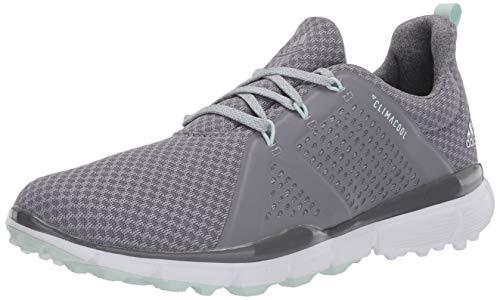 adidas Women's W Climacool CAGE Golf Shoe, Grey Three/Dash Green/Grey Four, 6 Medium US