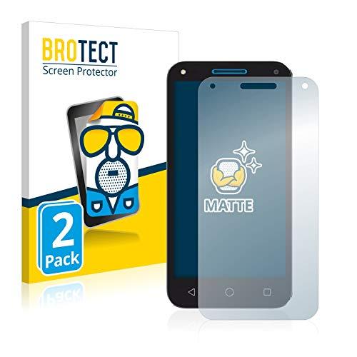 BROTECT 2X Entspiegelungs-Schutzfolie kompatibel mit Alcatel U5 3G Bildschirmschutz-Folie Matt, Anti-Reflex, Anti-Fingerprint