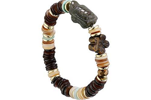 Hypnochic - Pulsera elefante, nácar, color marrón