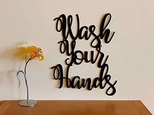 Wash Your Hands Bathroom Metal Sign Custom Housewarming Family Gift Wall Art Personalized Hanging Door Hanger Stay Safe Home Decor Healthy Kitchen Bathroom Humor Social Distancing COVID 19 Coronavirus