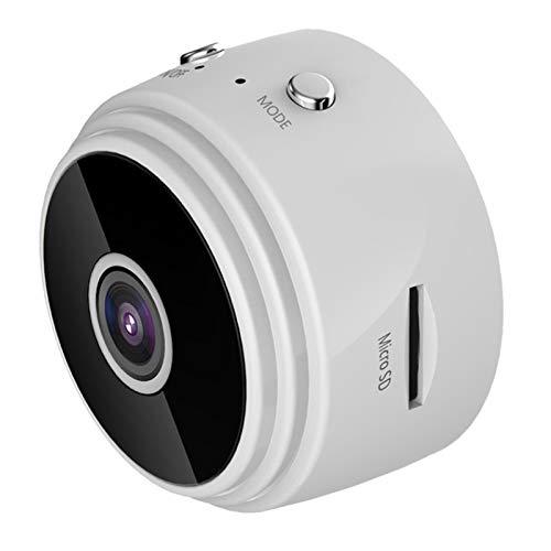 Mini cámara, cámara de Deportes de vigilancia de visión Nocturna 1080P HD WiFi Oculta Mini DV, Adecuada para el hogar y la Oficina del automóvil (Blanco)