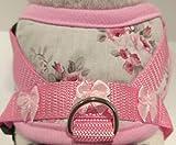 Masi Dogsdesign Talla XS, S, M, arnés suave, rosa, rosa, lazo, arnés de pecho ajustable para perros, cachorros, chihuahua, praga, yorkshire terrier, salchicha enano, maltés (M)