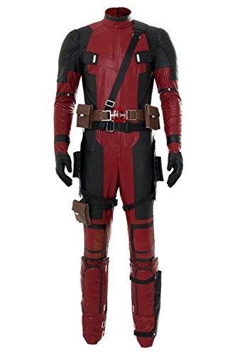 Deadpool Ganzköper Lycra Spandex Zentai-Anzug-Strampler Halloween Cosplay Kostüm Rot XL