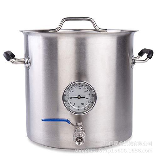 JIXIN Barril De Acero Inoxidable 304 para Cocina Casera Elaboración De Cerveza (30L / 7 Galones)