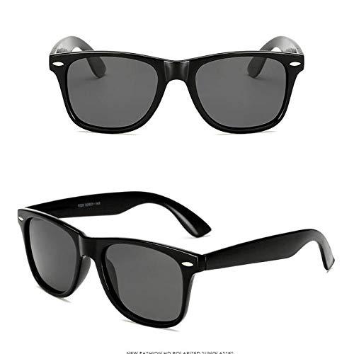 Gafas de Sol Sunglasses Gafas De Sol De PlásticoPolarizadasMujeres/Hombres Lentes De Color Caramelo Gafas De Sol Clásico Retro Viaje Al Aire Libre Negro