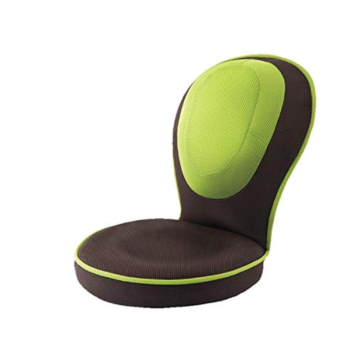 継続中プラス熱意PROIDEA(プロイデア) 背筋がGUUUN美姿勢座椅子コンパクト【グリーン】