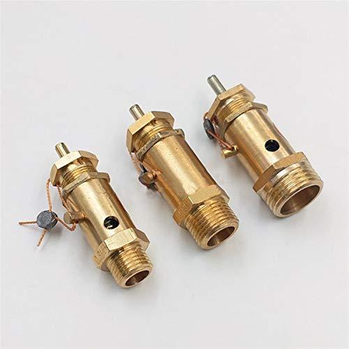 SHENYUAN Serie Industrial 1 unids 1/4'3/8' 1/2'Válvula de Alivio de Hilo Masculino DN8 DN15 Tipo de Anillo Tipo Válvula de liberación de Seguridad para compresor de Aire Caldera de la máquina