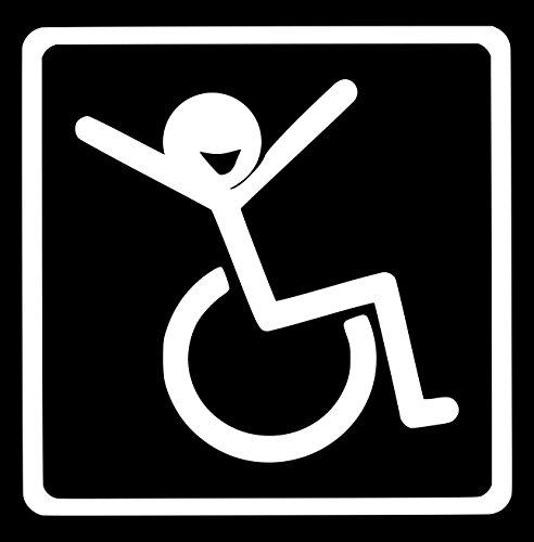 【全16色】車椅子マーク/車イス サイン/カー ステッカー/Car/リラックス/車用/シール/ Vinyl/Decal /バイナル/デカール/-2 (白) [並行輸入品]