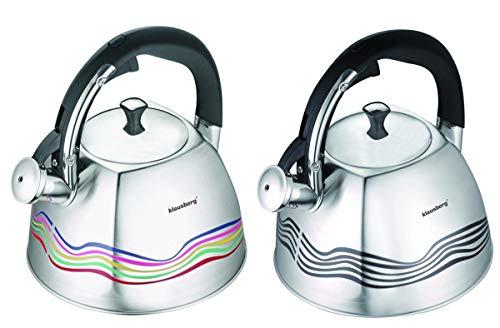 Magic Wasserkessel eckig Farbwechsel 3 Liter Induktion Flötenkessel Tee / Pfeif