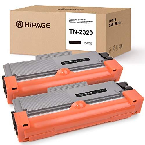 HIPAGE TN-2320 Toner Sostituzione per Brother TN-2320 Compatibile con Brother DCP-L2520DW L2540DW L2500D L2540DN HL-L2320D L2340DW L2360DW L2380DW L2300D L2360DN L2365DW MFC-L2700DW L2720DW (2 Nero)