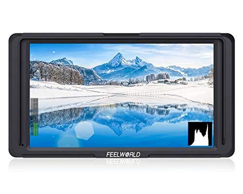 FEELWORLD F5 5 Zoll 4K HDMI IPS 1920x1080 Hochauflösender Feldmonitor mit Kamera und Histogramm, Fokus-Assistent, Falschfarben, Zebra-Belichtung, Kontrollfeld, Pixel für Pixel für DSLR-Kameras