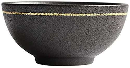 fenglei Cuenco de cereales Set Cerámica Tazón, Vajilla Creativa Estilo Europeo Phnom Arroz Bowl Pies Altos Salsa Bowl Sabor Hot Pot Sauce Bowl Pasta Bowls