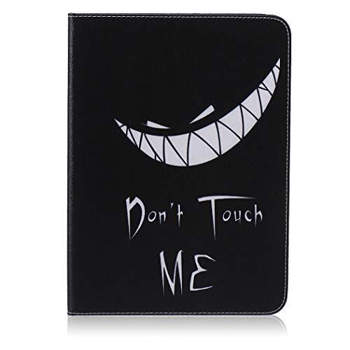 CoverTpu Funda para Samsung Galaxy Tab 4 10.1 Libro Cuero Carcasa Samsung T530 Delgada Piel Flip Suave PU Magnético Soporte Plegable Auto-Reposo/Activación Cierre Trasera Protector Cobertura Sonrisa