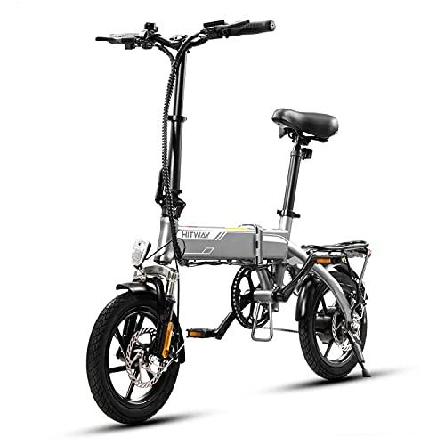 MARKBOARD Bicicleta eléctrica,Bicicleta eléctrica plegable para adultos de 14 ″,Bicicleta eléctrica con motor eléctrico de 250W,Tres modos de conducción,Bicicletas eléctricas impermeables para adultos