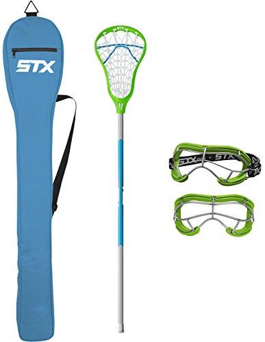STX Lacrosse Exult 200 Starter Pack Lizard/Electric
