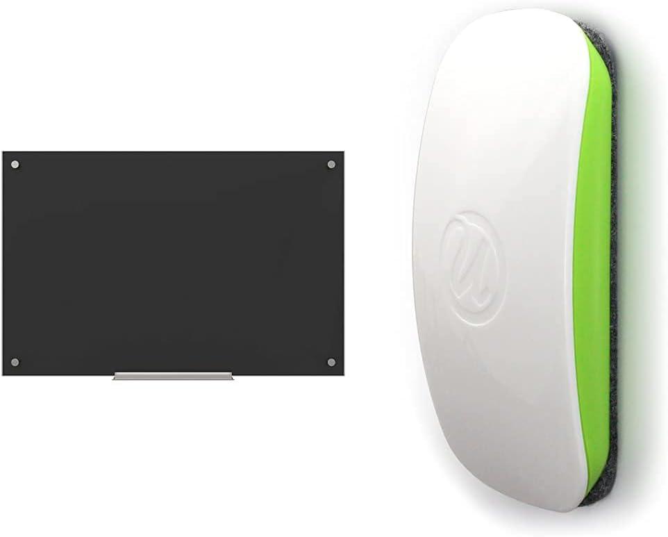 U SALE開催中 Brands Glass Dry Erase Board NEW売り切れる前に☆ Black Non-Magnet x 35 23 Inches