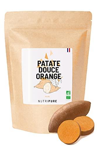 Farine de Patate Douce Orange BIO & Vegan • 100% Naturelle • Alternative sans Gluten & OGM • Basifiant • Indice Glycémique Bas • Idéale au petit déjeuner & en Pâtisserie • En Poudre • 625G • Nutripure