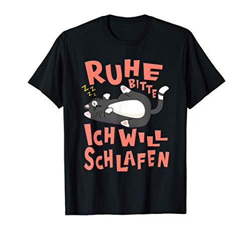 Offizielles Schlafshirt - Katzenshirt & Faule Müde Katze T-Shirt