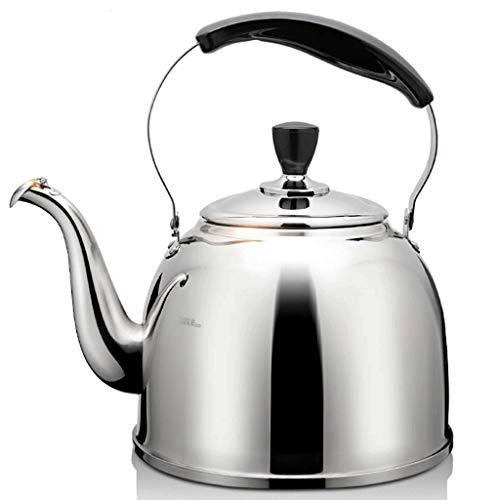 Review Of XJJZS Tea Kettle with – Handle, Surgical Stainless Steel Teapot for All Stovetops, (Size : 4L)