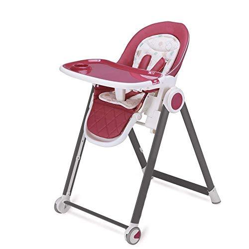Lebendige Dekoration Babyhochstühle Babyhochstuhl 3 Positionen Liegesitz Fütterung Snack Booster Sitz Babyhochstuhl Klappbar Tragbar (Farbe: Rot)