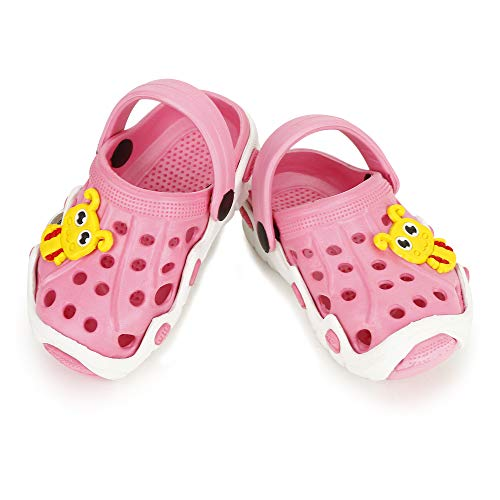 SMARTOTS Kids Light Weight Clogs Multicolor EVA Age -7 Months to 5 Year Classy for Kids Pink