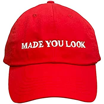 Made You Look Red Hat - The Original Joke Hat of 2020 | Hilarious Dad Gift Hat to Trigger a Smile Fits All for Both Men & Women! | Great Party Hat | Funny MAGA Hat Spin-Off