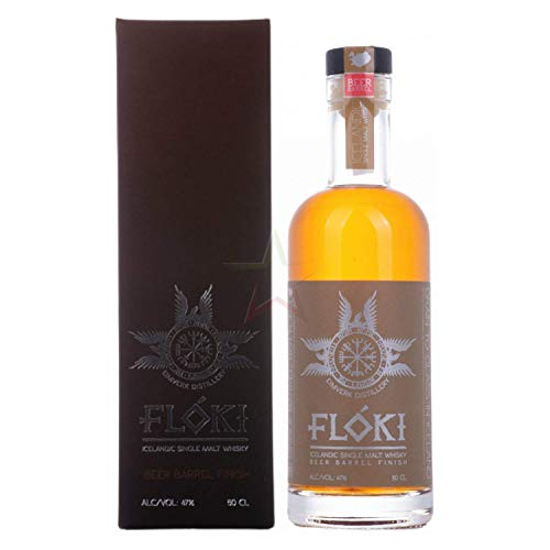 Flóki Icelandic Single Malt Whisky BEER BARREL Finish in Geschenkbox 47,00% 0,50 lt.