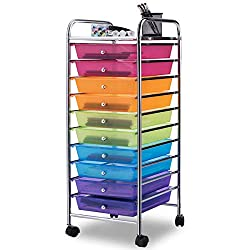 Best Classroom Rolling Carts Review - Giantex 10 Drawer Rolling Storage Cart