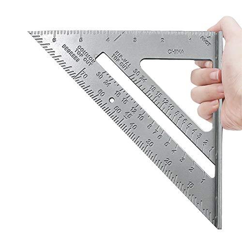Escuadra de carpintero de aleación de aluminio, escuadra de aluminio resistente, regla triangular, regla de aluminio cuadrada, herramienta para medir carpintería