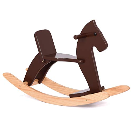 Fantastic Deal! Rocking horse LITING Pure Solid Wood Safety Trojan Children Rocking Chair Baby Baby ...