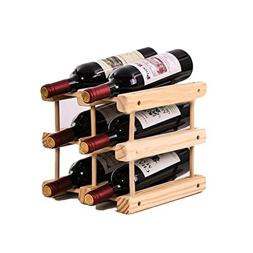 SYN-GUGAI Estante De Vino De Madera, Contener 8 Botellas Al Vino, Adecuadas para La Cocina O Decoración del Hogar (Size : 2 Bottles 3 Layers)