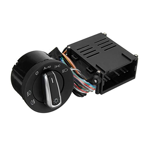 qinqin Interruptor Auto del Coche de la Linterna del Faro del Sensor + módulo de Control for VW T5 Transporter 2003-2015 T5.1
