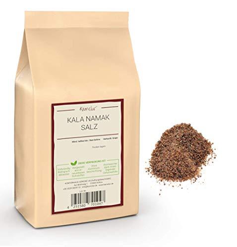200g Original Kala Namak Salz fein, verpackt in biologisch abbaubarer Verpackung- Exklusives Steinsalz aus Indien als Ei-Ersatz vegan - Schwarzes Salz