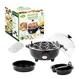 Nutri-Q 31729 Egg Cooker | Healthy Eating | Omelette Maker | Boil and Poach | Black, Plastic, 360 W