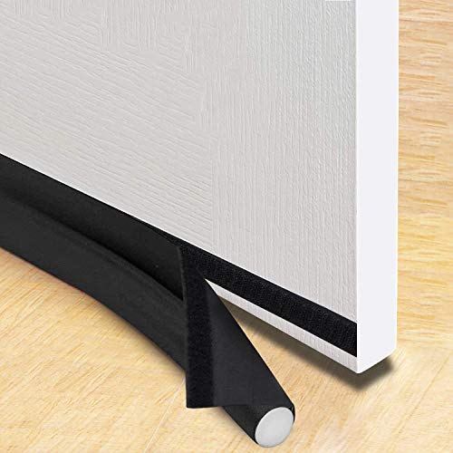 Trenect Door Draft Stopper Noise Reduction Sound Proof Door Draft Blocker Energy Saving Dust Proof 37 inches Adjustable Under Door Seal