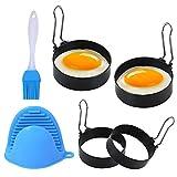 Anillo de Huevo, Anillos de Huevo Antiadherentes, Egg Rings, 4 Piezas Moldes para Huevos Fritos de Acero Inoxidable, para Huevos Frito y Panqueques