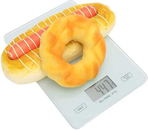 LSZ Básculas de Cocina Escala de Cocina Digital con LCD Pantalla, báscula multifunción de Escala de Cocina de Alimentos Digitales for cocinar y Hornear. Básculas de Cocina (Color : Battery)