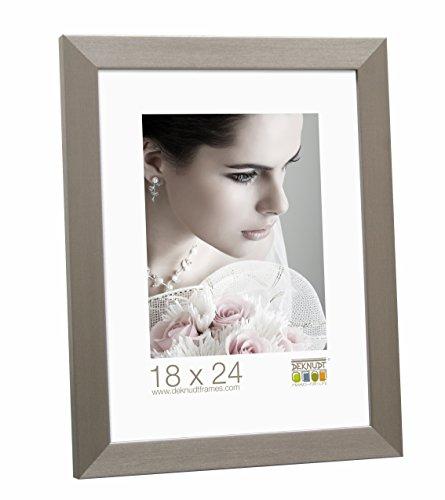 Deknudt Frames S41VD1 15 x 30 Cornice Grigio Argento Resina