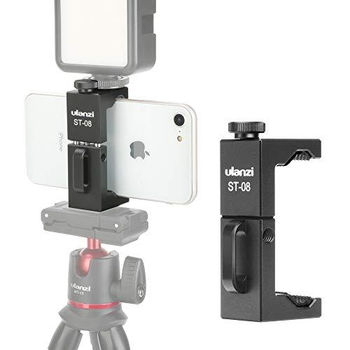 Soporte de trípode de metal para teléfono celular iPhone con abrazadera para micrófono inalámbrico Rode Go Vlogging SMRTphone trípode para iPhone 11 Pro Xs Max XR X 8 7 6 6s Plus Samsung Nexus