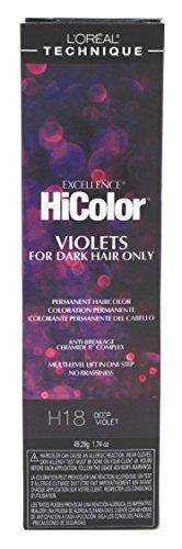 Loreal Excel Hicolor H18 Tube Deep Violet 1.74oz (2 Pack)