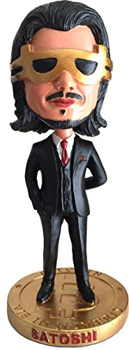 Satoshi Nakamoto Bitcoin Bobble Head | Cryptocurrency Limited Edition Collector's Item by CoinedBits?