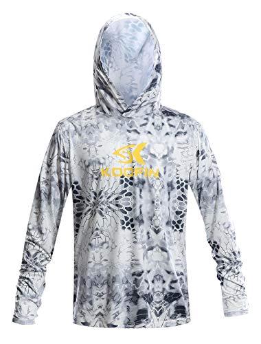 Performance Fishing Hoodie Long Sleeve Hooded Sunblock Shirt Outdoor...