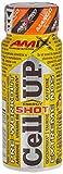 Amix - Cellup Shot - Suplemento Alimenticio - Contiene Cafeína - Aumenta la Fuerza y Congestión Muscular - Fórmula Pre-Entrenamiento - Nutrición Deportiva - Sabor a Mango - 20 Viales de 60 ml