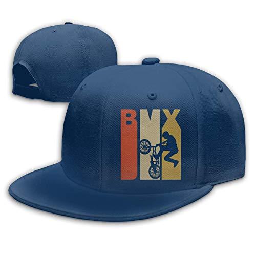 DAIAII Hombre Mujer Gorras de béisbol, Retro 1970s Style BMX Silhouette Unisex Adjustable Plain Baseball Cap Hip Hop Hats