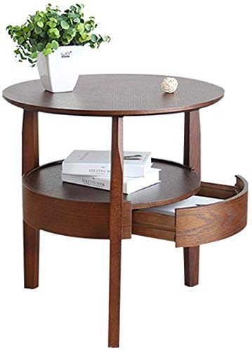 QTQZDD salontafel, bijzettafel, spind, bijzettafel, bank, nachtkastje, bureau, make-uptafel, hout, eettafel, materiaal bijzettafel, 5060 cm, theetafel (kleur: B, maat: # 2) 5 5